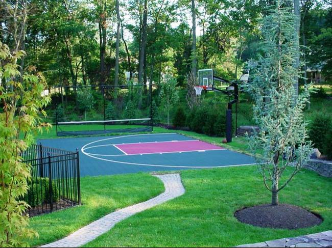 Maryland flexcourt gallery for Backyard sports court