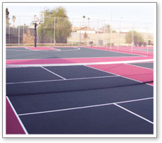 Multigame court surface
