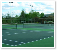 professional tennis court surface