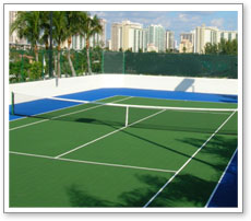 Stress free tennis surface