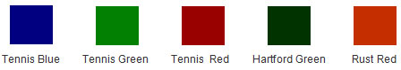 Traditional Tennis Court Colors
